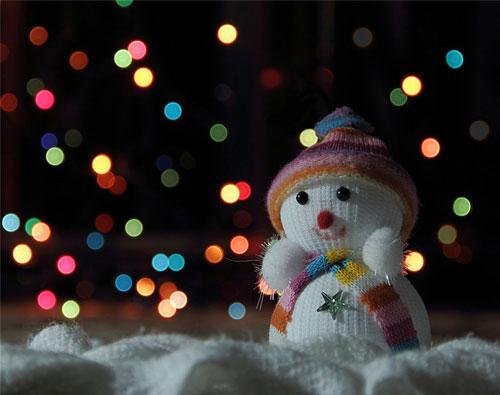 Конкурсный снеговик