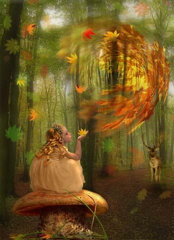 Коллаж осенняя фея