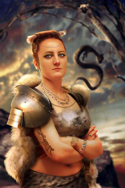 Королева варваров в Photoshop