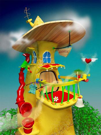 Мини-конкурс рисунка Сказочный домик