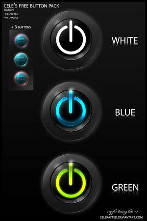 Стильные черные кнопки psd