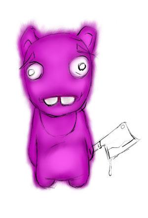 Зайка-убийца урок Фотошоп на планшете 8