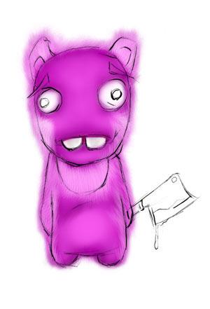 Зайка-убийца урок Фотошоп на планшете 10