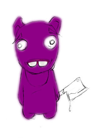 Зайка-убийца урок Фотошоп на планшете 5