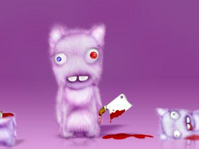Зайка-убийца урок Фотошоп на планшете финал