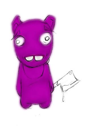 Зайка-убийца урок Фотошоп на планшете 6
