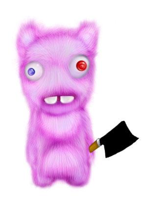 Зайка-убийца урок Фотошоп на планшете 19