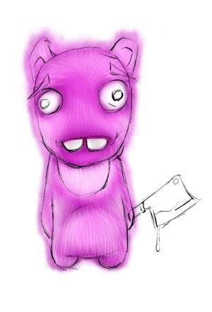 Зайка-убийца урок Фотошоп на планшете 11