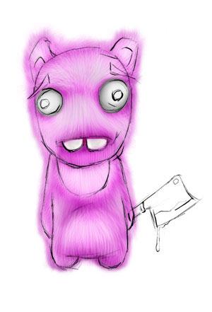 Зайка-убийца урок Фотошоп на планшете 14