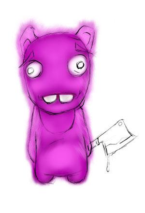 Зайка-убийца урок Фотошоп на планшете 9