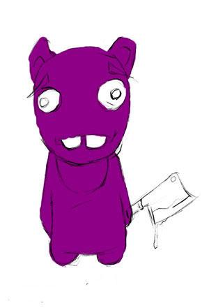 Зайка-убийца урок Фотошоп на планшете 1