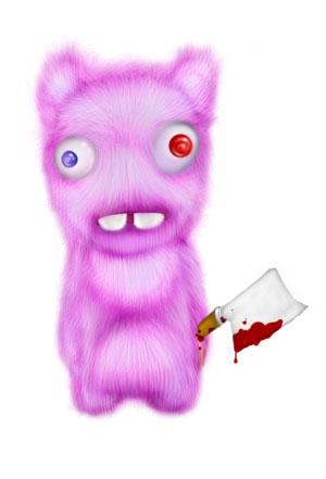 Зайка-убийца урок Фотошоп на планшете 21