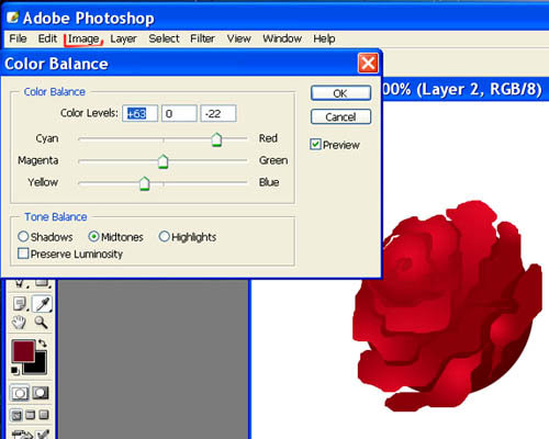 Рисуем розы в Фотошопе