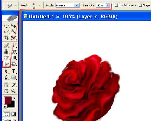Рисуем розы без планшета в Фотошопе
