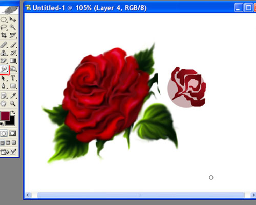 рисуем букет роз