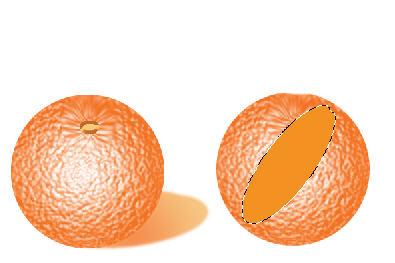 создаем реалистичный апельсин