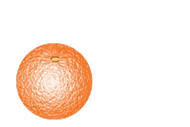 Вкусный апельсин в Фотошопе