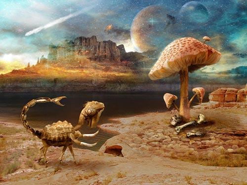 Урок коллажа Фантастическая планета Набии