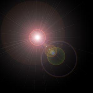 Filter-Render-Lens Flare (Фильтр-Освещение-Блик). только ставим Brightness