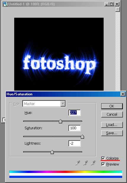 Текстовый эффект в Adobe Photoshop 4