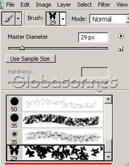Звездные бабочки в Adobe Photoshop 7