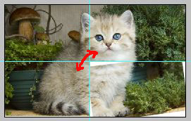 Урок по эффекту разрезанного фото в Фотошопе 5