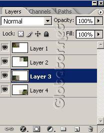 Урок по эффекту разрезанного фото в Фотошопе 6